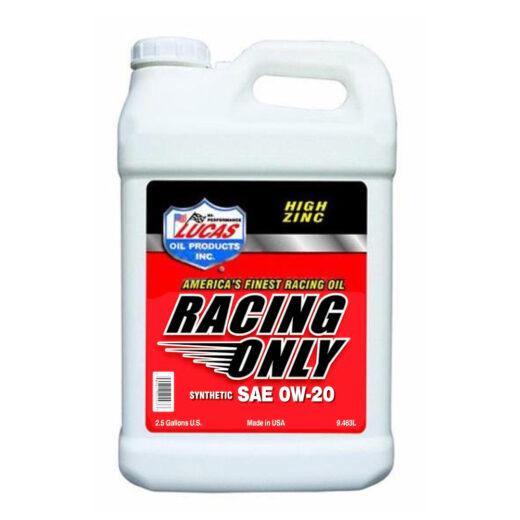 10293 HIGH PERFORMANCE RACING ONLY MOTOR OIL 0W-20 2.5 Gallon