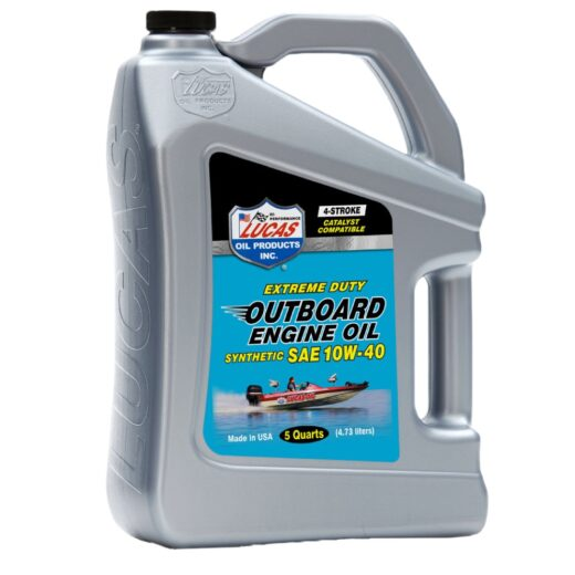 10813 LUCAS SYNTHETIC SAE 10W-40 OUTBOARD ENGINE OIL (3 X 5QT Case)