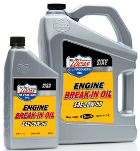 HIGH ZINC ENGINE BREAK-IN OIL SAE 20 - 2.5 Gallon