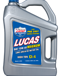 LUCAS 15W-40 MAGNUM HIGH TBN CI-4 OIL (4 Gallon Case)