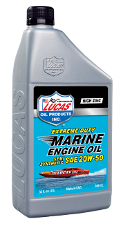 LUCAS EXTREME DUTY MARINE SEMI SYN 20W-50 ENGINE OIL (6 Qt Case)