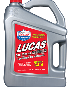 LUCAS MAGNUM 15W-40 CJ-4 OIL SYNTHETIC (4 Gallon Case)