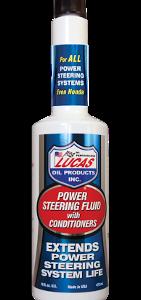 LUCAS OIL POWER STEERING FLUID W:CONDITIONERS (12 Bottle Case)