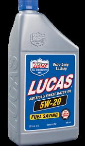 LUCAS SAE 5W-20 MOTOR OIL (6 Quart Case)