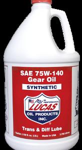 LUCAS SAE 75W-140 SYNTHETIC GEAR OIL (4 Gallon Case)