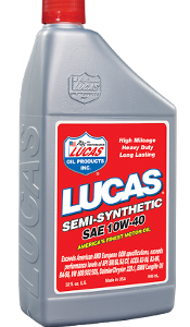 LUCAS SEMI-SYNTHETIC 10W-40 (6 Quart Case)