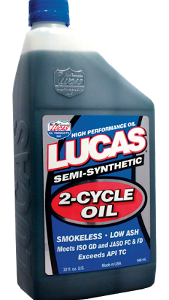 LUCAS SEMI SYNTHETIC 2-CYCLE OIL (6 Quart Case)