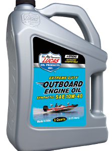 LUCAS SYNTHETIC SAE 10W-40 OUTBOARD ENGINE OIL (3 X 5QT Case)