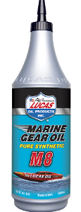 LUCAS SYNTHETIC SAE 75W-90 M8 MARINE GEAR OIL (12 Quart Case)