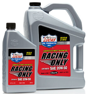 SEMI-SYNTHETIC RACING ONLY MOTOR OIL 20W-50 2.5 Gallon