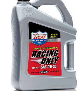 SEMI-SYNTHETIC RACING ONLY MOTOR OIL 20W-50 5 Quart