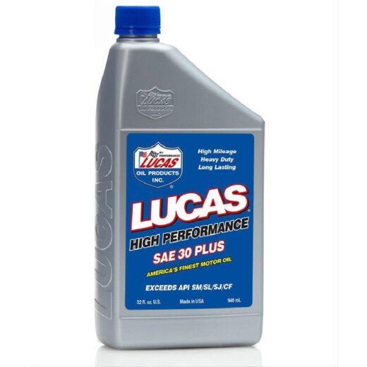 10053 LUCAS 30 WT PLUS MOTOR OIL (6 Quart Case)