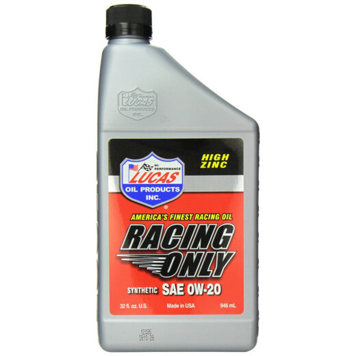 10291 HIGH PERFORMANCE RACING ONLY MOTOR OIL 0W-20 Quart