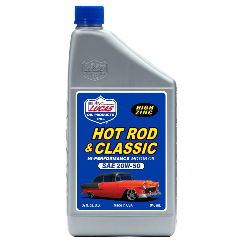 Hot rod classic 20w 50 motor oil 6 qrt case bass edge for Motor oil for older cars